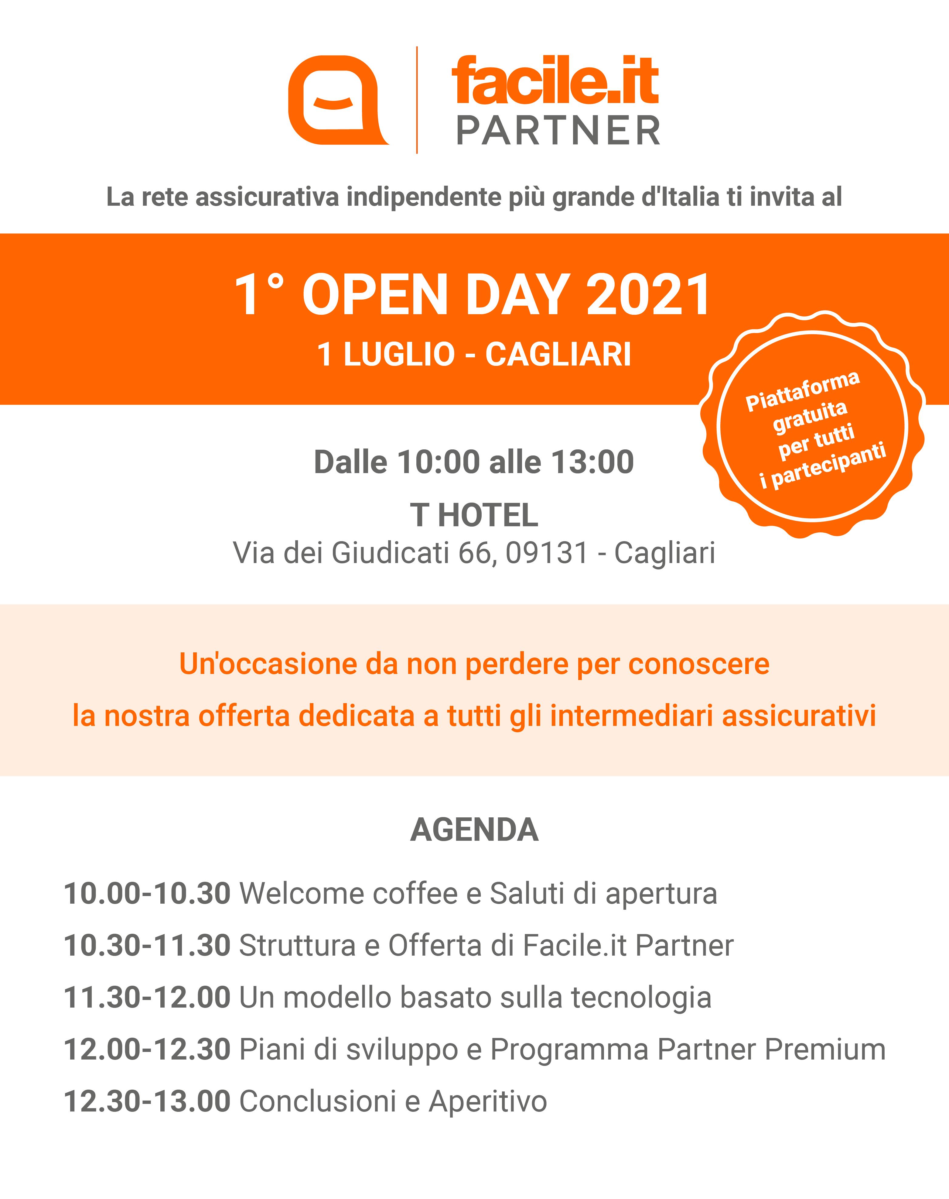 Facile.it Partner Open Day 1° luglio 2021
